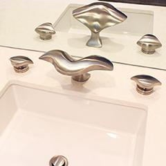 Aurora Lavatory Set w/ Aurora Handles (shown in satin nickel)