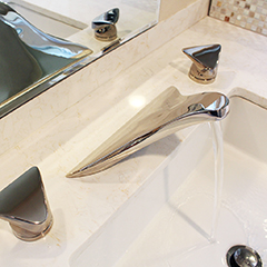 Sky Lavatory Set w/ Sky Handles (shown in polished nickel)