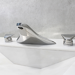 Sky Lavatory Set w/ Sky Handles (shown in polished chrome)